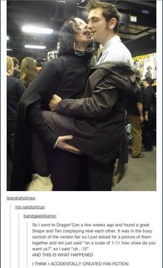 Snape and Ten cosplay turns into fanfiction