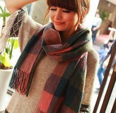 Long Wool Women's Shawl Scarf