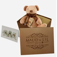 Maud N Lil Luxury Organic Cotton Toy Cubby The Bear