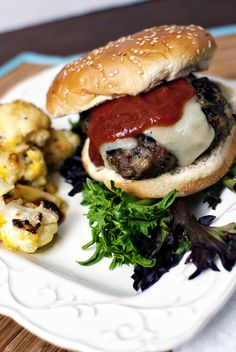 From Pass The Sushi: Pesto Burgers