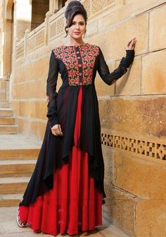 Looking for salwar kameez for women? Indian Suits & Salwar Kameez Online - Buy Anarkali Suits, Salwar Suits, Churidar Suits, Pants Suits and Palazzo Suits Online. Designer Salwar Suits, Designer Anarkali, Designer Gowns, Indian Designer Wear, Anarkali Dress, Pakistani Dresses, Indian Dresses, Anarkali Suits, Black Anarkali