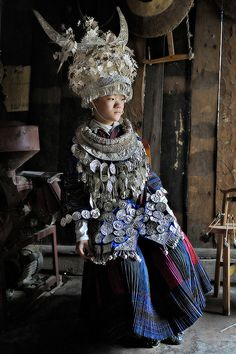 For more than 400 years, silver accessories have been a standard for the Miao people.