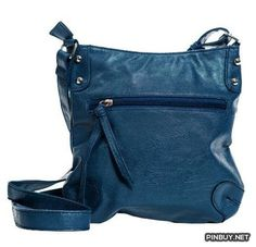 Ladies Trendy Classic Metal Studded Crossbody Everday Bag - Cross Body - Bags and Purses