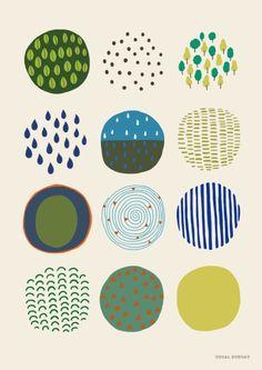 Spring time Art Print by uzualsunday - X-Small Pattern Art, Pattern Design, Print Patterns, Graphic Patterns, Pattern Illustration, Time Art, Graphic Design Inspiration, Surface Design, Illustrations