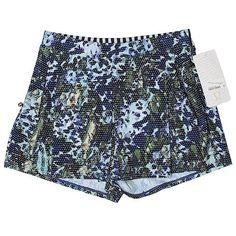 Lululemon Athletica Athletic Shorts ($30) ❤ liked on Polyvore featuring activewear, activewear shorts, navy blue and lululemon