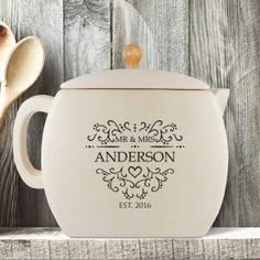 Established Mr and Mrs Personalised Tea Pot