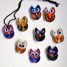 Rebekka's craft room: Coffe capsule owl / Hiboux en capsules de café Plus Bijou Capsule Nespresso, Dosette Nespresso, K Cup Crafts, Seashell Projects, Quilling Jewelry, Upcycled Crafts, Flower Crafts, Diy For Kids, Creations