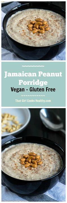 Jamaican peanut porridge - vegan and gluten free