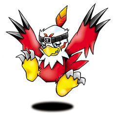 Hawkmon - Rookie level Bird digimon