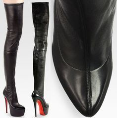 "Christian Louboutin ""Monicarina"" Thigh-High Leather Boots"