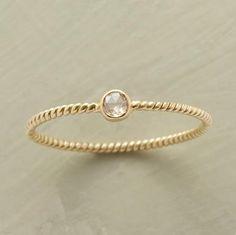 teeny tiny stone ring