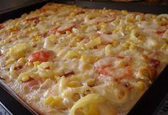 Krémsajtos házi pizza