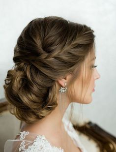▷ 1001 + ideas for beautiful hairstyles Plus instructions for making your own - Haarfrisuren - Hochzeitsfrisuren-braided wedding updo-Wedding Hairstyles Romantic Hairstyles, Bride Hairstyles, Easy Hairstyles, Best Wedding Hairstyles, Beautiful Hairstyles, Bridesmaids Hairstyles, French Hairstyles, Evening Hairstyles, Romantic Updo