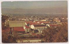 Burbank, California Postcard Aerial View of Warner Brothers Studios 1960 Cancel