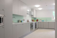 The kitchen, with lots of storage for everyone