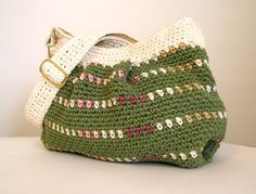 Hey, I found this really awesome Etsy listing at https://www.etsy.com/listing/125206626/sage-green-and-cream-hobo-handbag-lined