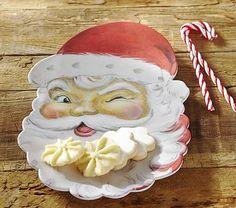 Santa Face Platter #pbkids