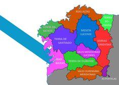 Proposta de distribución territorial non provincial dos territorios galegofalantes Spain History, Nerf, Reciprocating Saw, Maps