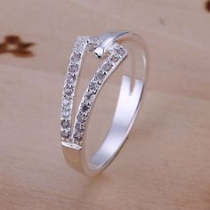 Fashion-Crystal-Jewellery-S925-Solid-Silver-Ring-Size-Q