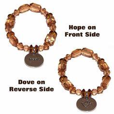 Hope & Dove Charm Bracelet1 by CreativeXpression1 on Etsy