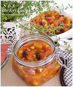 sos meksykański - przepis do słoików i na teraz Chana Masala, Fruit, Ethnic Recipes, Drink, Food, Beverage, Essen, Meals, Yemek