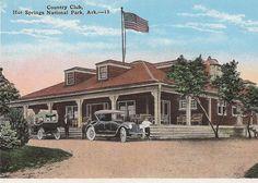 old postcard, Hot Springs Country Club, Arkansas