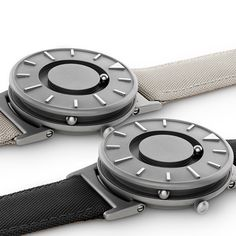 The Bradley tactile timepiece available in two new colours at Dezeen Watch Store.