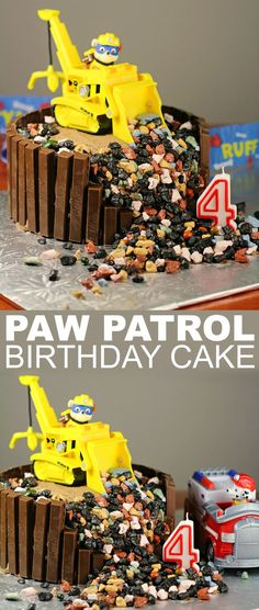 Patrol Birthday Cake This Paw Patrol Birthday Cake is sure to delight any little Paw Patrol fan. It's super easy to pull off!This Paw Patrol Birthday Cake is sure to delight any little Paw Patrol fan. It's super easy to pull off! Paw Patrol Birthday Cake, Paw Patrol Party, Rubble Paw Patrol Cake, Paw Patrol Cupcakes, Fete Laurent, Bolo Fack, Bolo Halloween, Cupcakes For Boys, 4th Birthday