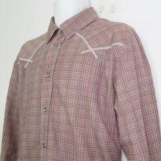 Men Diesel Slim Fit Western Style Shirt Long Sleeve Snap Front 100% Cotton sz XL…