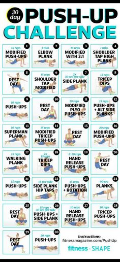 Join us for the ultimate 30-day push-up challenge that slowly increases reps to build your triceps and overall arm and core strength.