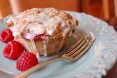 Raspberry Lemon Muffins -- yep, it says muffins.  Looks like cupcakes to me so that is where it is going.  :)