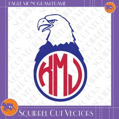 Eagle Monogram Frame SVG DXF EPS Cutting files by SquirrelCutVectors on Etsy https://www.etsy.com/listing/242765781/eagle-monogram-frame-svg-dxf-eps-cutting
