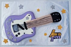 Purple Guitar Caker