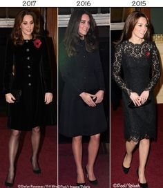 Last year the Duchess wore the 'Callas' evening coat from Temperley London (original post here). In 2015 she was in a Dolce and Gabbana lace dress(original post here). Kate in Catherine Walker for Festival of Remembrance - What Kate Wore Kate Middleton Style, Pippa Middleton, Duchess Kate, Duke And Duchess, Prince William And Kate, Prince Philip, Kate Wedding Dress, Kate And Pippa, Catherine Walker