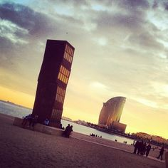 The morning after New Year's celebration in Barcelona, Spain