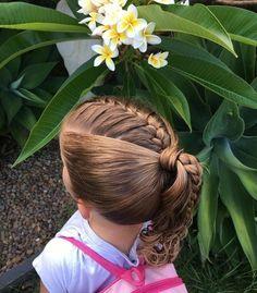 Girls hairdos, cute girls hairstyles, hairstyles for school Teenage Hairstyles, Flower Girl Hairstyles, Little Girl Hairstyles, Hairstyles For School, Cute Hairstyles, Braided Hairstyles, Formal Hairstyles, Dance Hairstyles, Men's Hairstyle