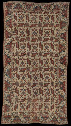 McMullan Ushak 'bird' carpet, Western Turkey, late 16th, early 17th century. The Metropolitan Museum of Art, New York Dimensions: Rug: L. 170 1/2 in. (433.1 cm) W. 93 5/8 in. (237.8 cm)