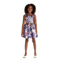 Krista Purple Roses Dress