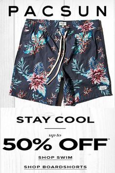 5a6f5bde89 UP to 50% Off Swim & BoardShorts at #Pacsun #Shorts #Jeans #Denim #Fashion # Styles