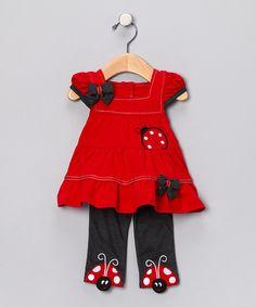 Red Ladybug Dress & Leggings - Infant    $16.99 http://www.zulily.com/invite/dnet219