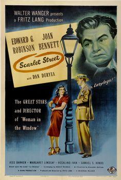Scarlet Street (Fritz Lang, 1945) starring Edward G. Robinson, Joan Bennett, Dan Duryea
