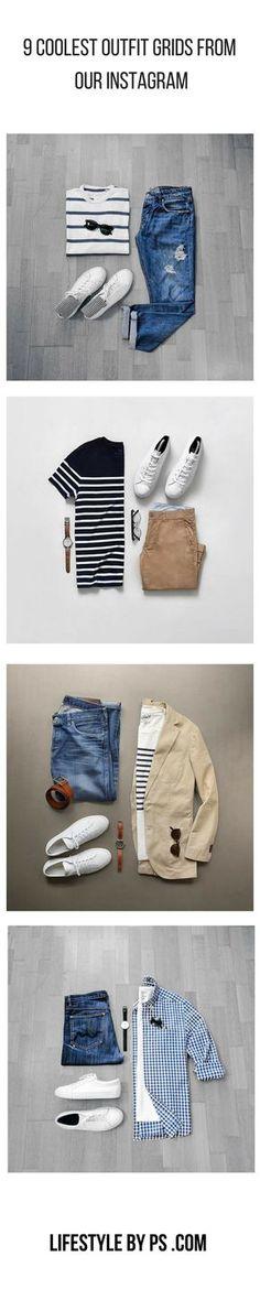 Estilos outfit grids for men