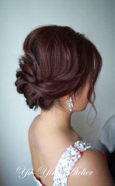 romantic updo Bridal Hairstyle, Hair Updo, Wedding Hairstyles, Big Curly Hair, Curly Hair Styles, Bridesmaid Hair, Prom Hair, Wedding Hair And Makeup, Hair Makeup