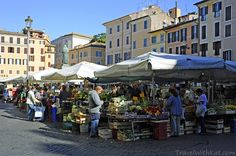Best food in Rome at the Campo dei Fiori market - Rome Food Tour with Walks of Italy