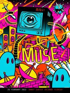 INSIDE THE ROCK POSTER FRAME BLOG: Munk One Muse Tour Poster Sets On Sale