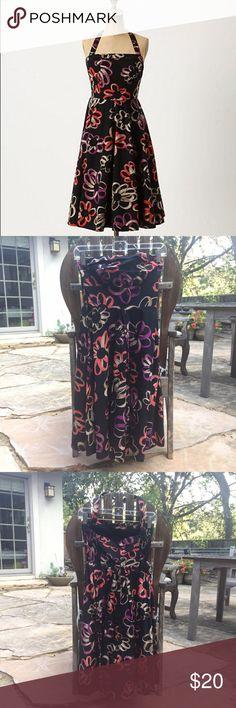 Anthropologie dress sz 0 EUC Anthropologie Girls from Savoy Martagon sketch halter dress. Size 0. Back zip, can be worn halter or strapless. Halter strap buttons on. Anthropologie Dresses Mini