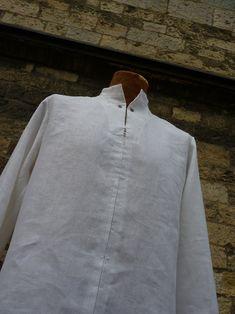 """pánská košile \""""sůva\"""" bílý len velikost dle přání Jitka Kellerová - autorské lněné oděvy Mens Tops, T Shirt, Fashion, Supreme T Shirt, Moda, Tee Shirt, Fashion Styles, Fashion Illustrations, Tee"""