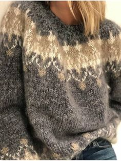 Loose Sweater, Long Sleeve Sweater, Sweater Cardigan, Casual Sweaters, Pullover Sweaters, Sweaters For Women, Knit Sweaters, Motif Vintage, Vintage Patterns