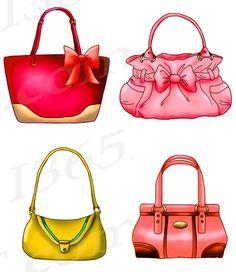 50% OFF Sale Handbag Clipart Purse Clipart Clip art by I365Art