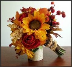 love the sunflowers and roses